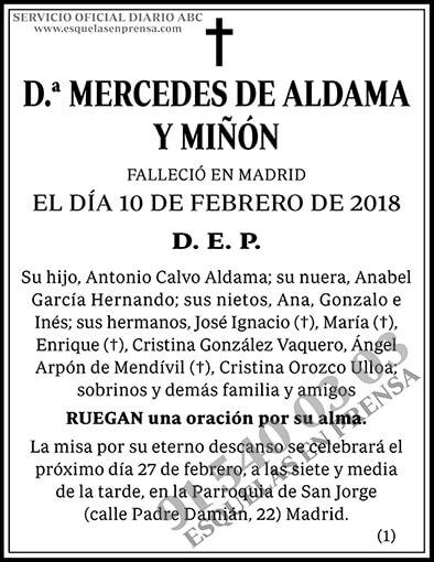 Mercedes Aldama y Miñón